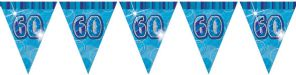 Blue Glitz '60th' Birthday Flag Banner